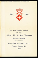 Image - a reunion program of the 117th New York State Infantry Regiment